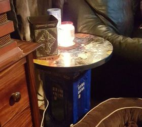 Diy Dr Who Tardis Table Lamp, Crafts, Lighting, Painted Furniture