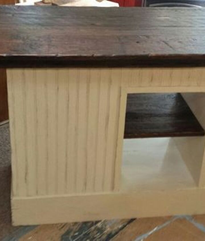 this buffet will be turned into a gorgeous barnwood top kitchen isla, chalk paint, diy, kitchen design, kitchen island, painted furniture, repurposing upcycling, woodworking projects