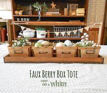 diymyspring berry basket tote, container gardening, crafts, gardening
