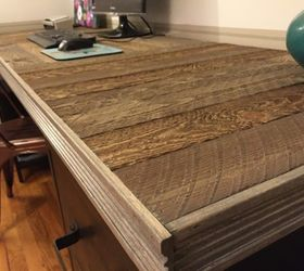 How To Build A Reclaimed Wood Pallet Desk Top, Diy, How To, Pallet