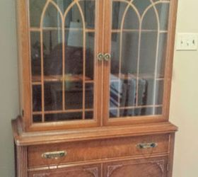Nice Old China Cabinet Makeover, Painted Furniture