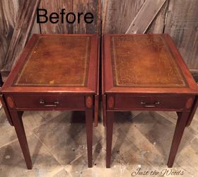 Yes You Can Paint The Leather Vintage Tables, Painted Furniture