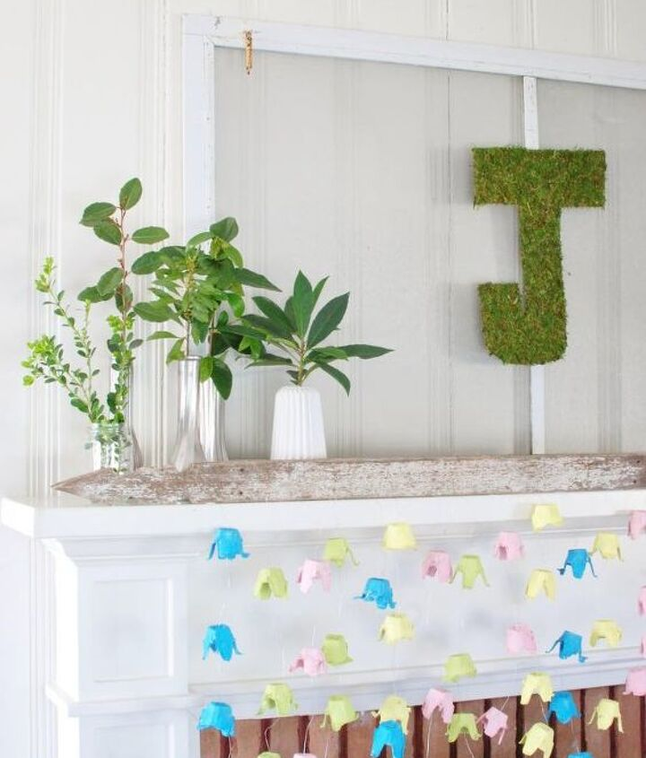 diy moss letter for spring, crafts, how to, seasonal holiday decor