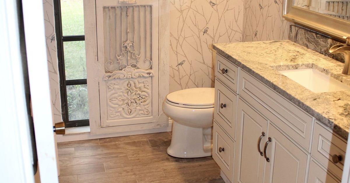Bathroom remodel barn door hardware hometalk for Bathroom remodel 33411