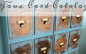 Card Catalog With Faux Treatment