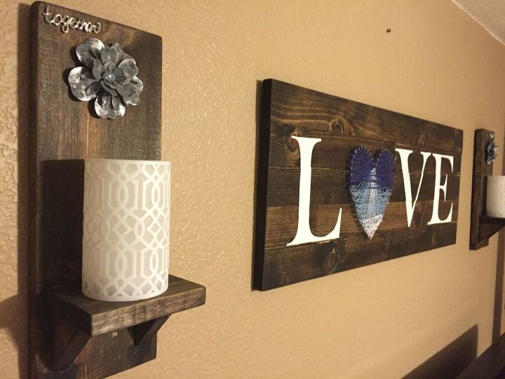 DIY Rustic Wood Wall Sconce | Hometalk