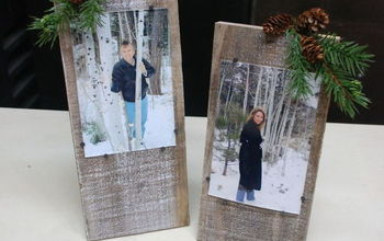 A Rustic Frame Made From Scrap Wood For Under $1.00