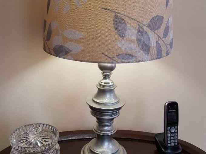 thrift store lamp makeover, crafts, lighting