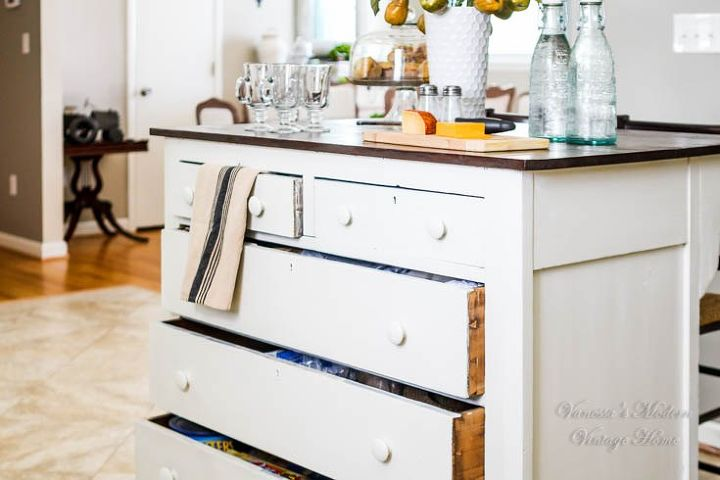 Turn A Dresser Into A Kitchen Island: Need More Kitchen Storage? Turn A Dresser Into An Island