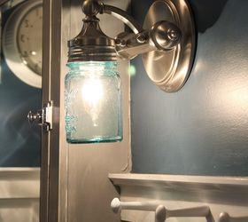 DIY Ball Jar Sconce Light