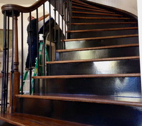 Piano Black Sprayed Finish, Foyer, Painting, Stairs