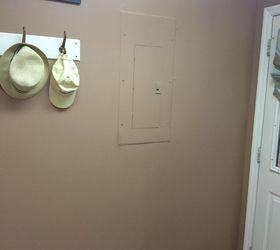 repurposed kitchen cabinet door covers ugly fuse box hometalk rh hometalk com Fuse Box Door Handle 2014 Elantra Fuse Box Door