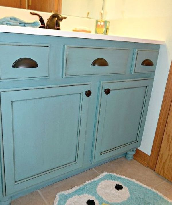 48 LowCost Ways To Replace Or Redo A Hideous Bathroom Vanity Beauteous Bathroom Cabinet Redo