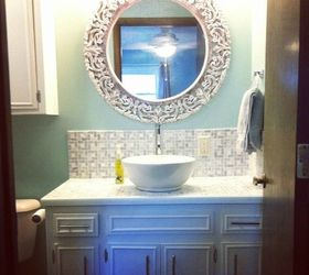 Cover The Ugly Top In Tiled Mosaic Cost To Install New Bathroom Vanity D