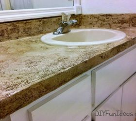 Give The Top A Patchy Concrete Look. Dress Up A Standard Bathroom Vanity ...