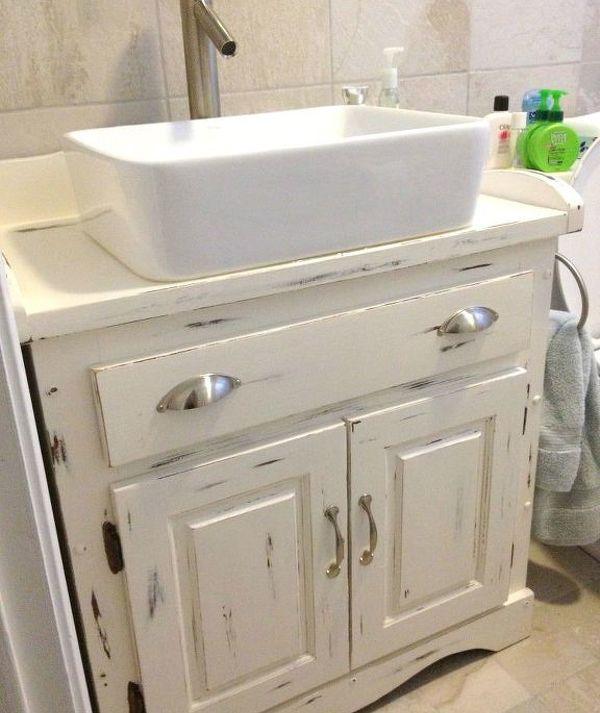 48 LowCost Ways To Replace Or Redo A Hideous Bathroom Vanity Enchanting Bathroom Cabinet Redo