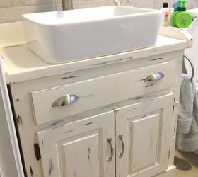flip a thrift store dresser into a new vanity