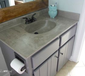 Give The Vanity A Paint U0026 Countertop Makeover