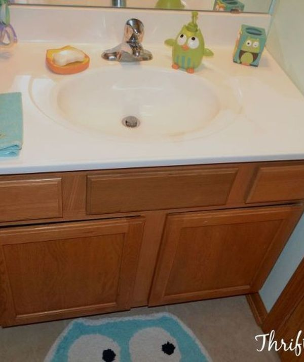 11 Low-Cost Ways to Replace (or Redo) a Hideous Bathroom Vanity | Hometalk