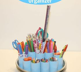 Diy Rotating Supply Organizer, Craft Rooms, Crafts, Home Office, How To,