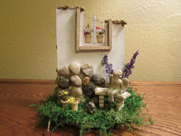 miniature fairy garden wall, crafts, gardening, how to, woodworking projects