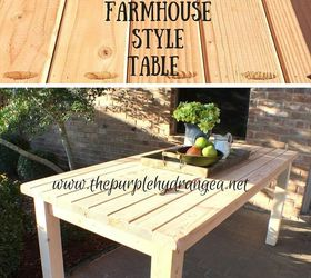 rustic farmhouse style table using only 2 x 4s diy painted furniture rustic