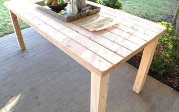 rustic farmhouse style table using only 2 x 4s, diy, painted furniture, rustic furniture, woodworking projects