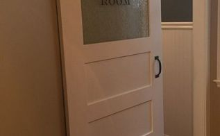 the finishing touch a sliding barn door for the laundry room, diy, doors, laundry rooms