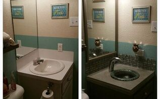 cheap small bath renovation, bathroom ideas, diy, home improvement