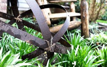 An Unexpected Upscale Garden Junk Orb, Thanks to a Broken Barrel!