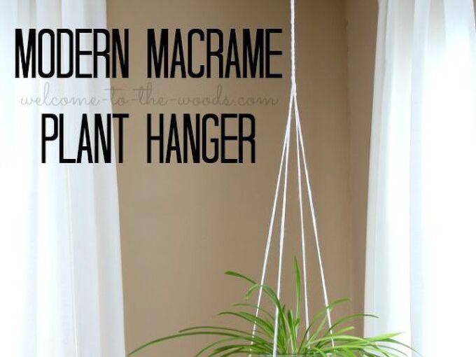 diymyspring decor modern macrame plant hanger, gardening, home decor, wall decor