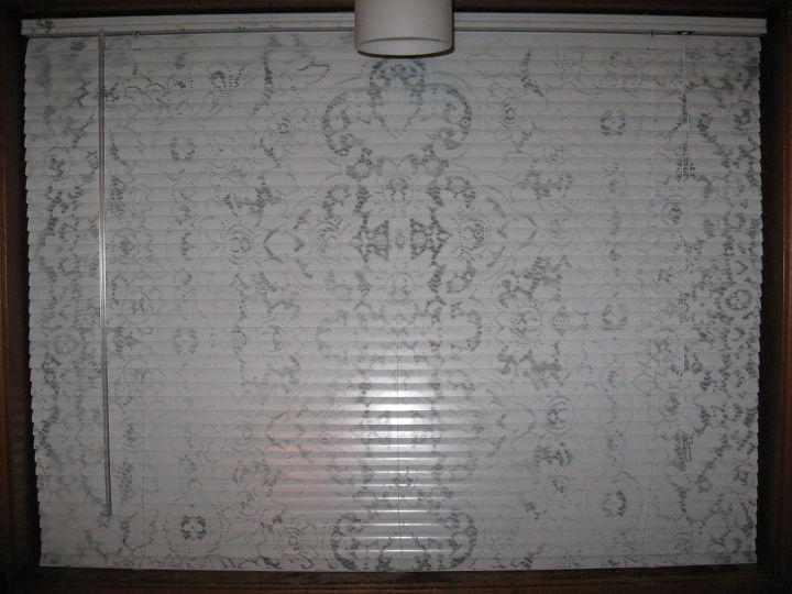 digital lace mini blind, reupholster, window treatments, windows
