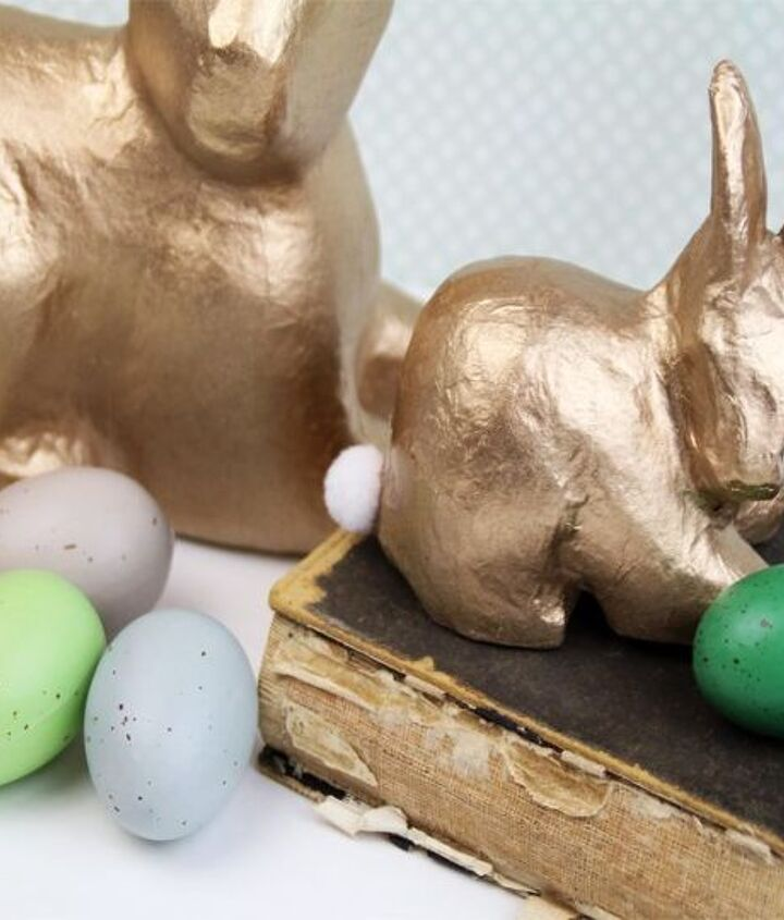 simple gold bunny spring decor, crafts, easter decorations, seasonal holiday decor