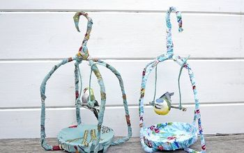 Gorgeous Spring Fabric Birdcages