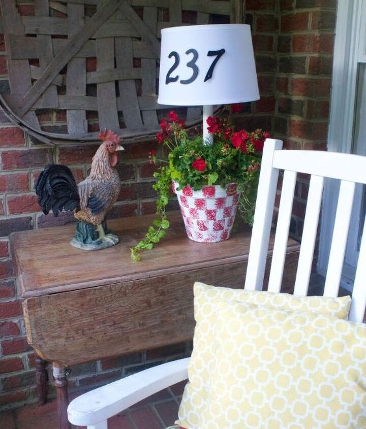 s 13 spectacular things to make for your yard using 1 solar lights, lighting, outdoor living, repurposing upcycling, A house number that doubles as a planter