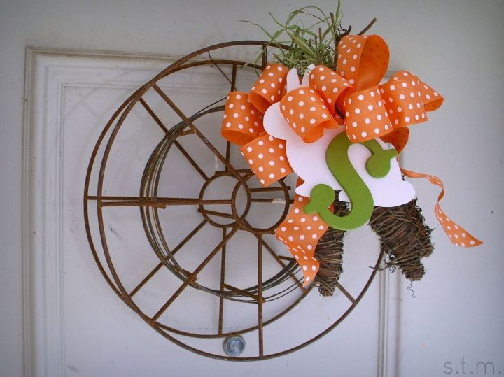 industrial whimsy equals spring rustic wreath, crafts, seasonal holiday decor, wreaths