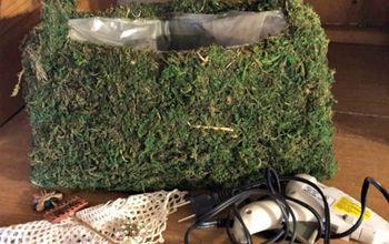 vintage moss purse, crafts, gardening