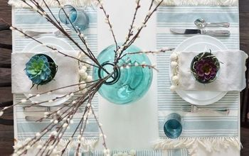 A Fresh, Nature Inspired Spring or Easter Table Setting #DIYMySpring