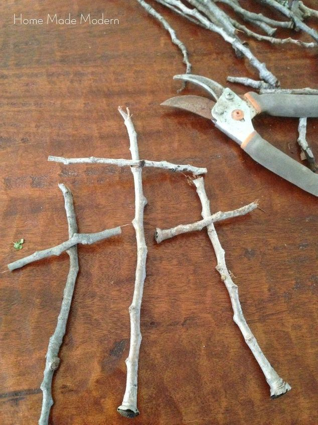 collect twigs from the yard