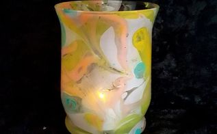 how to marble glass with nail polish, crafts, how to