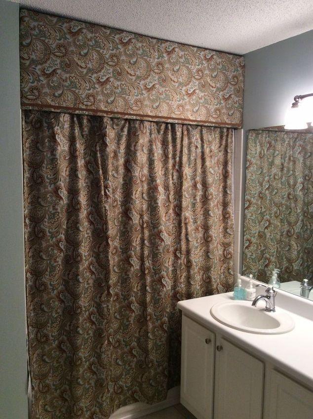 Custom Look Cornice and Shower Curtain | Hometalk