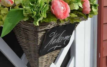 how to make a basket of blooms for your front door, container gardening, doors, gardening, how to