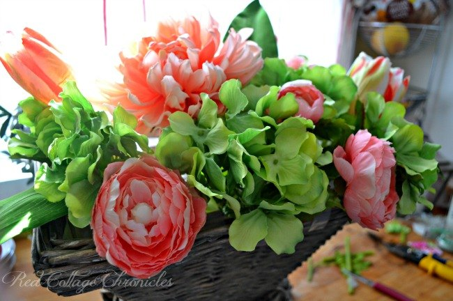 how to make a basket of blooms for your front door, container gardening, doors, gardening, how to