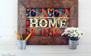 flower seed packets home sign, crafts, repurposing upcycling, seasonal holiday decor