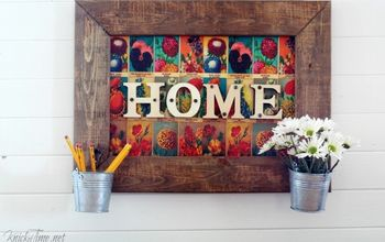 Flower Seed Packets Home Sign