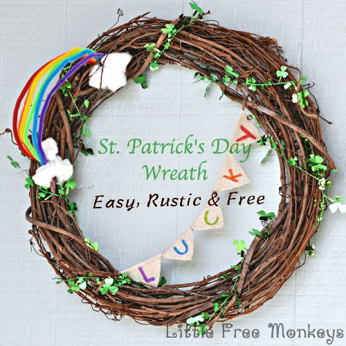 st patrick s day wreath, crafts, seasonal holiday decor, wreaths
