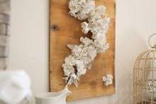 falling flowers spring sign, crafts, seasonal holiday decor, wall decor
