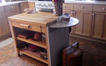 my 58 kitchen island makeover, countertops, diy, kitchen design, kitchen island, woodworking projects