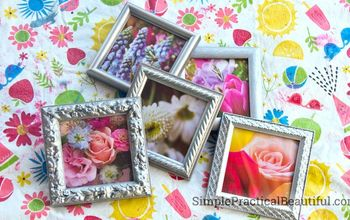 Small Frames With Flower Photos
