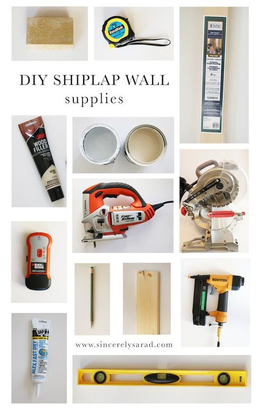 diy shiplap wall, diy, kitchen design, tools, wall decor, woodworking projects